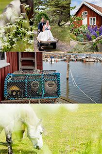 Swedish westcoast wedding on the beach